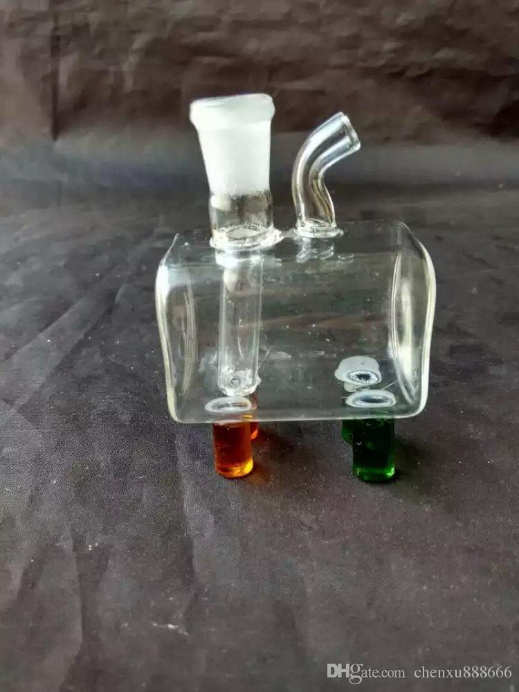 Accessoires pour bangs en verre, Accessoires pour tuyaux d'eau en verre Tuyaux à fumer Percolator Bongs en verre Brûleurs à mazout Tuyaux d'eau Rigs à huile fumer avec goutte
