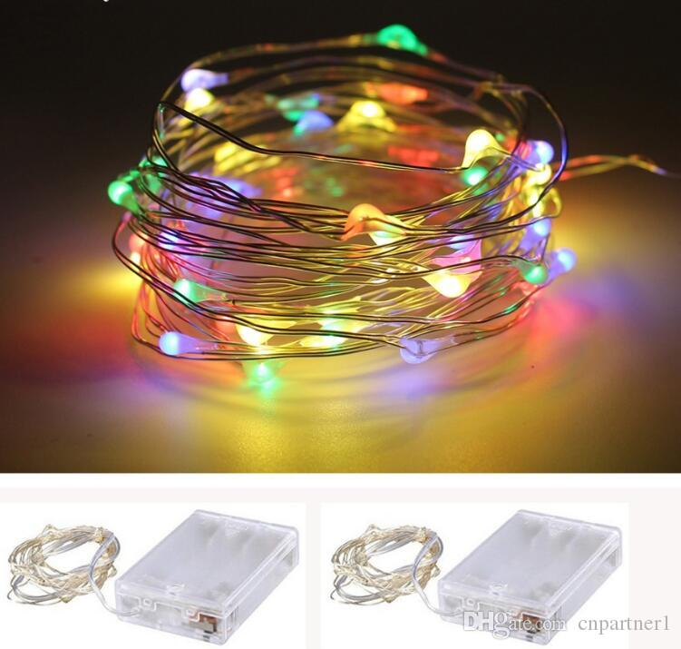 2018 christmas lighting 3m 30leds aa battery operated led string mini led copper wire string fairy light xmas home party decoration lights white string