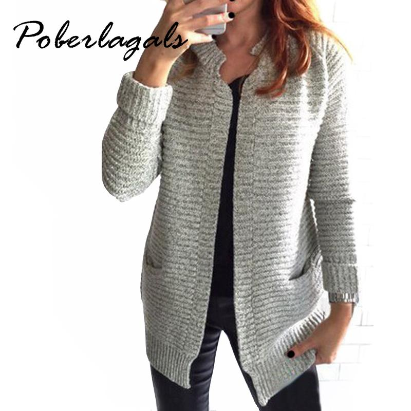 Wholesale 2016 Autumn Winter Fashion Women Long Sleeve Loose Knitting  Cardigan Sweater Womens Knitted Female Cardigan Pull Femme Cardigans UK 2019  From ... 7132a663b