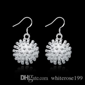 Großhandel - niedrigster Preis Weihnachtsgeschenk 925 Sterling Silber Fashion Earringsy E144