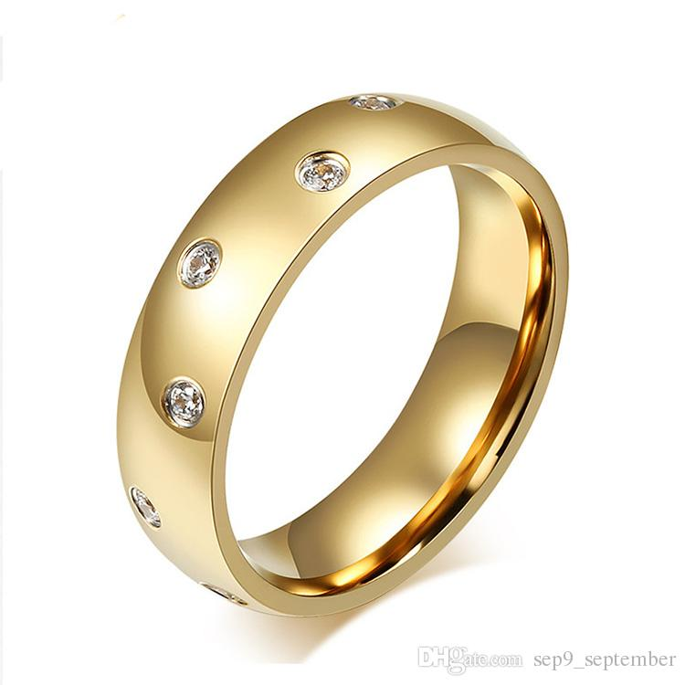 Stainless Steel Rings For Men Wedding Band Ring 2017 Brand Jewelry