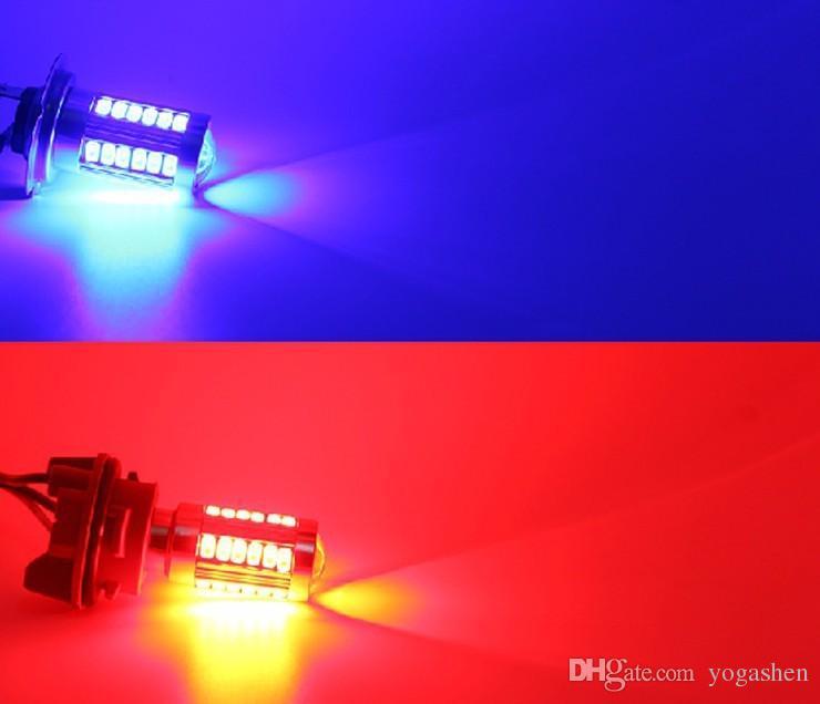 T20 7440 W21W wy21w 33 LED 5630 5730 smd auto brake lights fog lamp reverse light car daytime running light red yellow amber