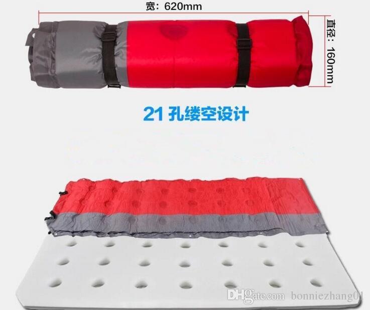 Esteira de acampamento inflável automática da barraca de acampamento inflável do sono Almofada de esteira respirável da umidade-Almofada respirável com descanso