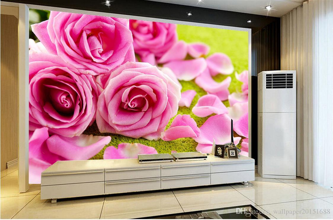 dream red rose flower water drop tv wall mural 3d wallpaper 3d see larger image
