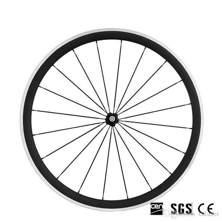 Alloy Aluminum Brake Surface Cycling Wheel 700C 38mm 3K Glossy Clincher Road Bicycle Wheels With Novatec 271 Hubs 20/24 Holes