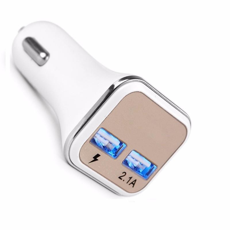 Hot sale New Dual USB Adaptive QC2.0 LED Quick Charge Super Fast Car Charger For Samsung Galaxy Note 5 S7 Edge S8
