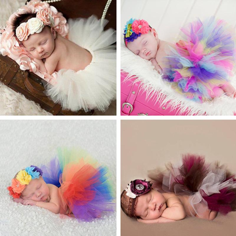 Baby newborn photography props headbands tutu set girls baby hat cap photos prop children s photography props hats accessories baby headbands tutu skirts