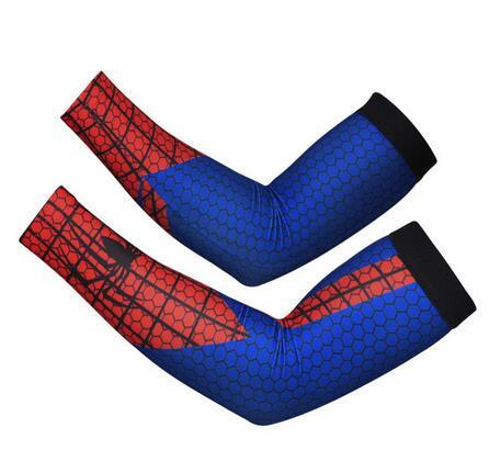 superman batman spiderman arm sleeve Baseball Stitches digital camo arm sleeves baseball Outdoor Sport Stretch camo compression arm sleeve