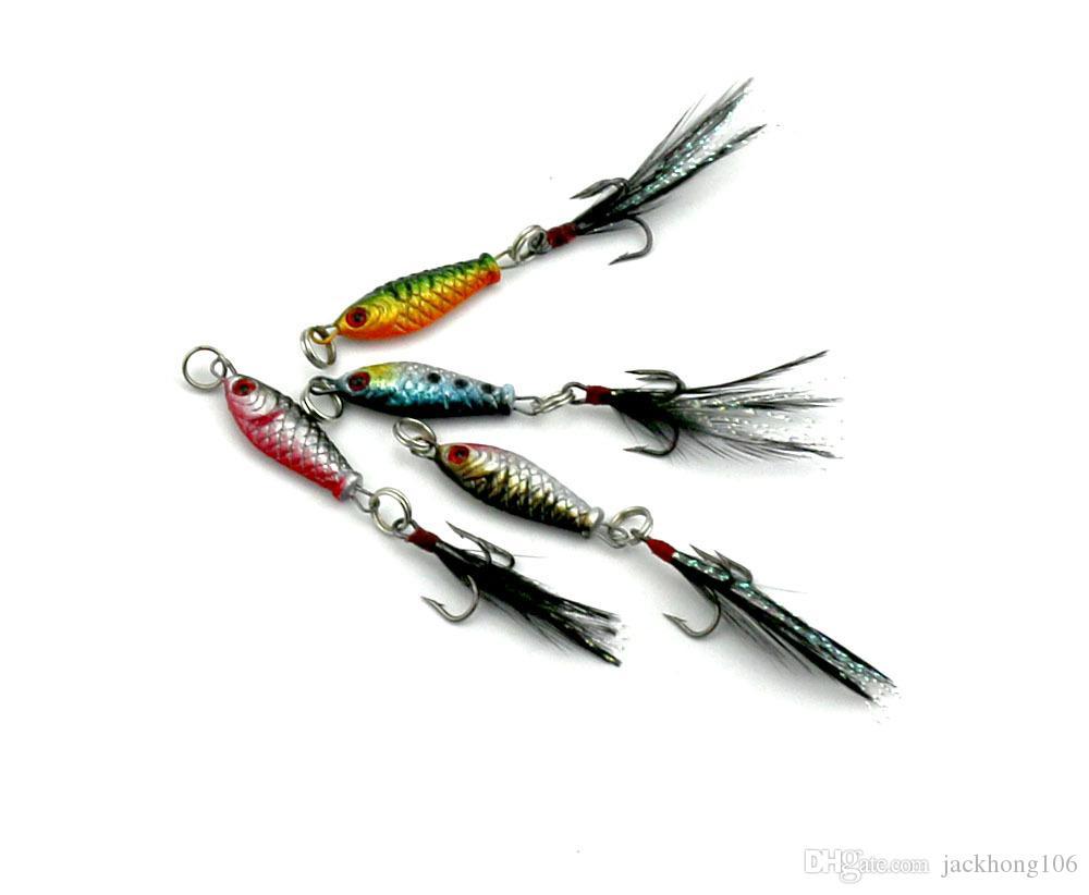 Оптовая 2.5 см 6.4 г рыболовные приманки классический Мини привести джиги металлические приманки четыре цвета