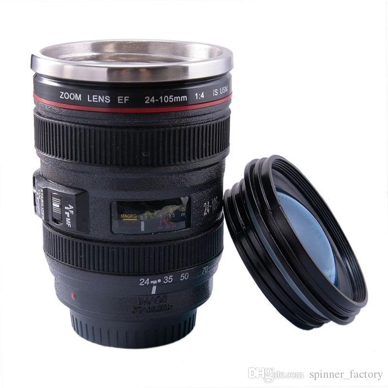 2018 400ml Creative Slr Camera Lens Cup Mug 24 105mm Stainless Steel 6  Generation Tumbler Travel Mug Slr Lens Bottle Hot From Spinner_factory, ...