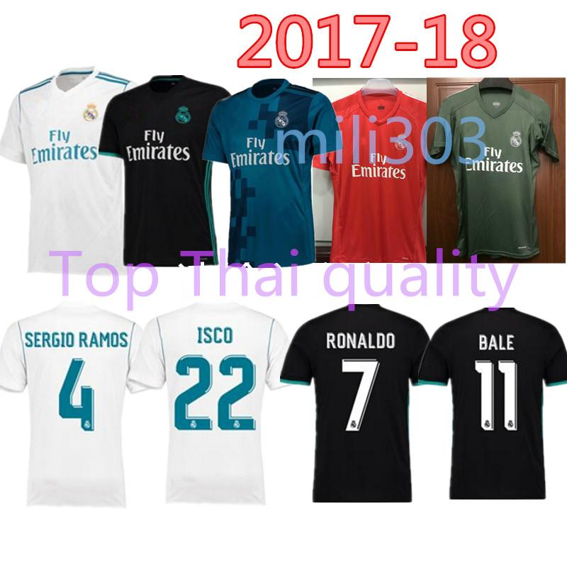 2019 2017 2018 Real Madrid Home Third Soccer Jersey 17 18 Away Soccer Shirt  Ronaldo Bale Asensio SERGIO MODRIC RAMOS Football Shirt Uniforms From  Mili303 cb607a290