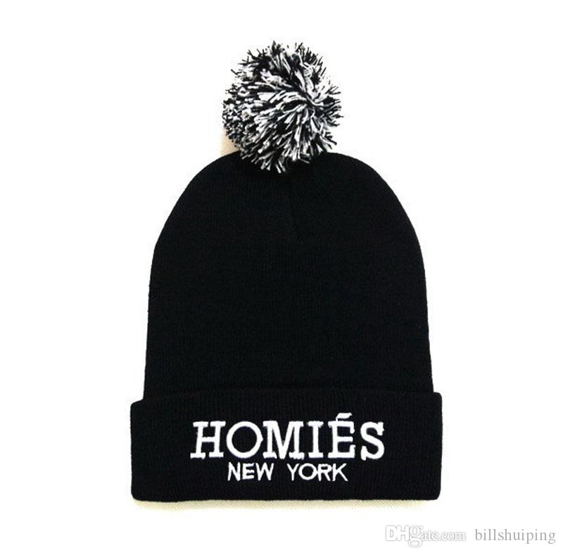 3bb89c994e5 Hot Selling New HOMIES Style Fashion Men Women Skull Beanie Hat Winter Fall  Hiphop Warm Cap Knit Hats Cheap Hats From Billshuiping