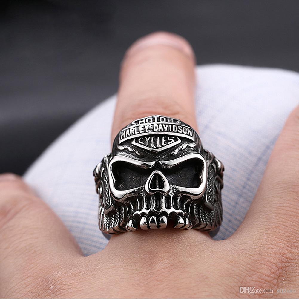 Personaggio in argento da uomo in acciaio inossidabile 316 con gioielli in argento e acciaio