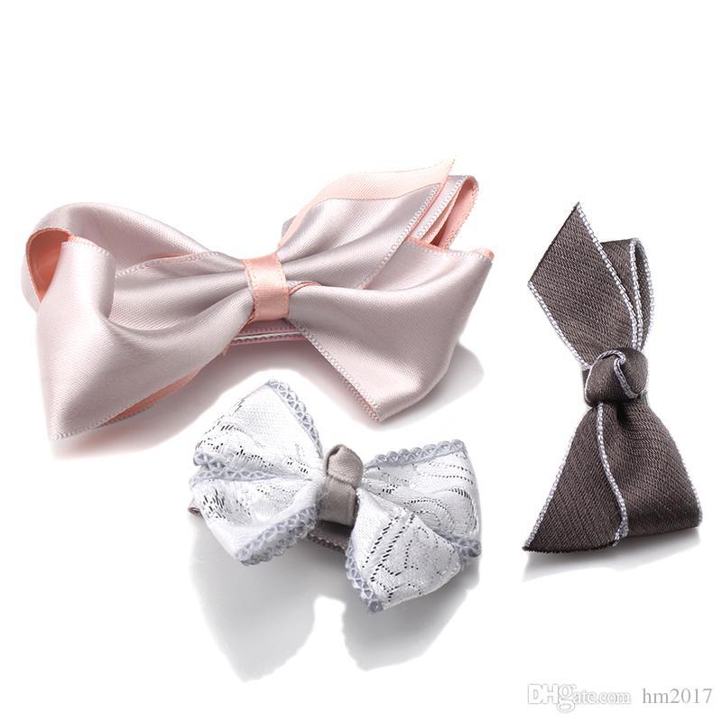 어린 소녀 헤어 액세서리 사랑스러운 활 매듭 머리핀 머리 핀 머리에 쓰는 수건 핸드 메이드의 경우 1 세트 = 를 핫 판매 헤어 클립