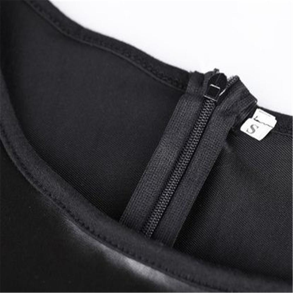 Fashion Dress Women black fitted pencil skirt Ladies' PU Dress Leather Long Short Sleeve Women deep plunge summer PU dress DHL ouc422