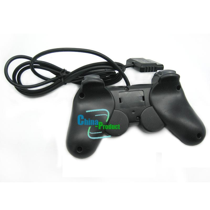 PS2 Gamepad Black Wired Controller 1.8M Double Shock Remote joystick Joypad for PlayStation