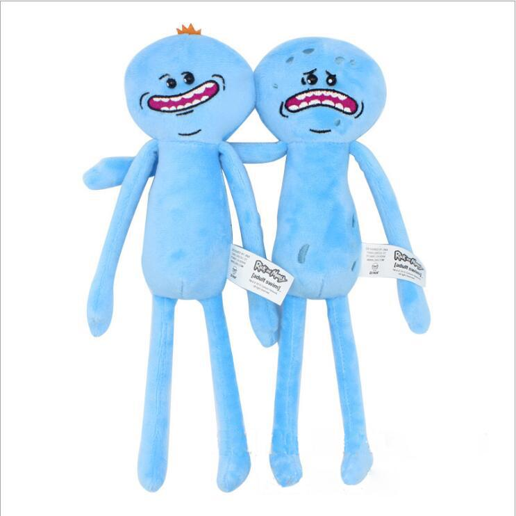 10 teile / satz 20-30 cm Rick und Morty glücklich und traurig Meeseeks puppe plüsch spielzeug kinder cartoon cartoon spielzeug geschenke billig hersteller großhandel