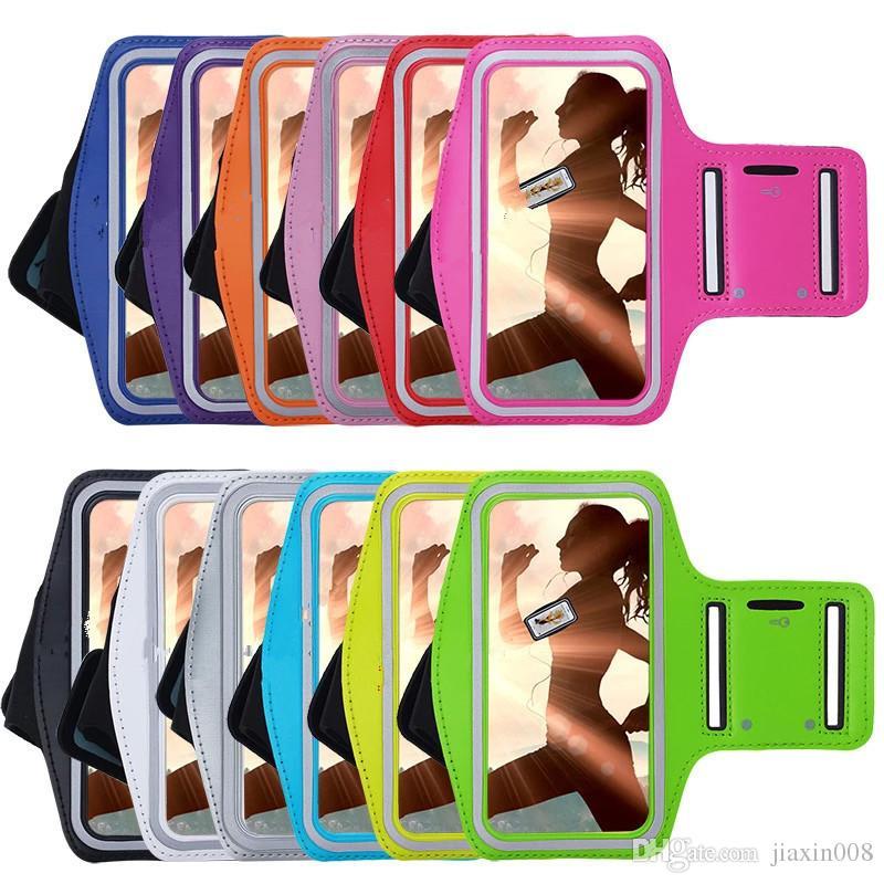 Cep telefonu Armbands Gym Koşu spor kol bandı kapak iphone 4 s 5 S 5C 6 6 s 7 8 çanta ayarlanabilir kol bandı koruyun vaka