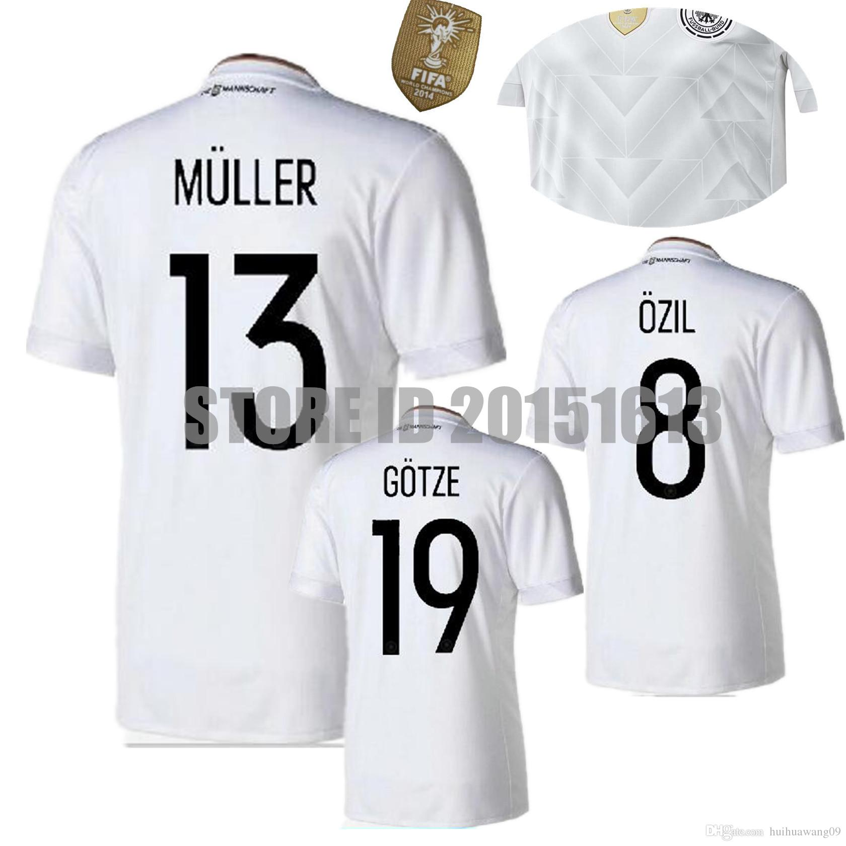 9efd804b3 ... 2017 2017 2018 Deutschlan Muller Jerseys Home White Germany Soccer  Jerseys Schweinsteiger Ozil Gotze Reus Kroos Authentic Bastian ...