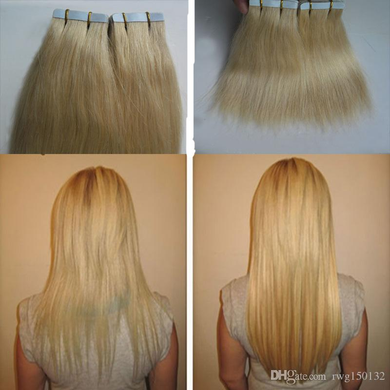 Blonde Tape In Human Hair Extensions 100g Human Hair Extensions Tape