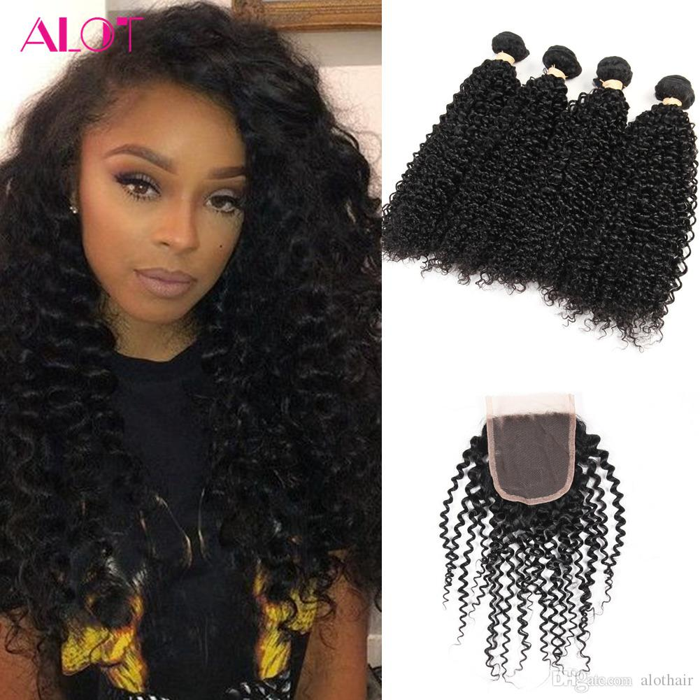 Grade 8a Brazilian Virgin Hair Bundles With Weaves Closure 100