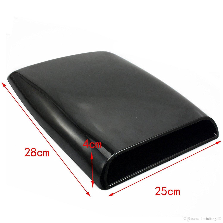 Universal Auto decorative Air Flow Intake Scoop Turbo Bonnet Vent Cover hood BK