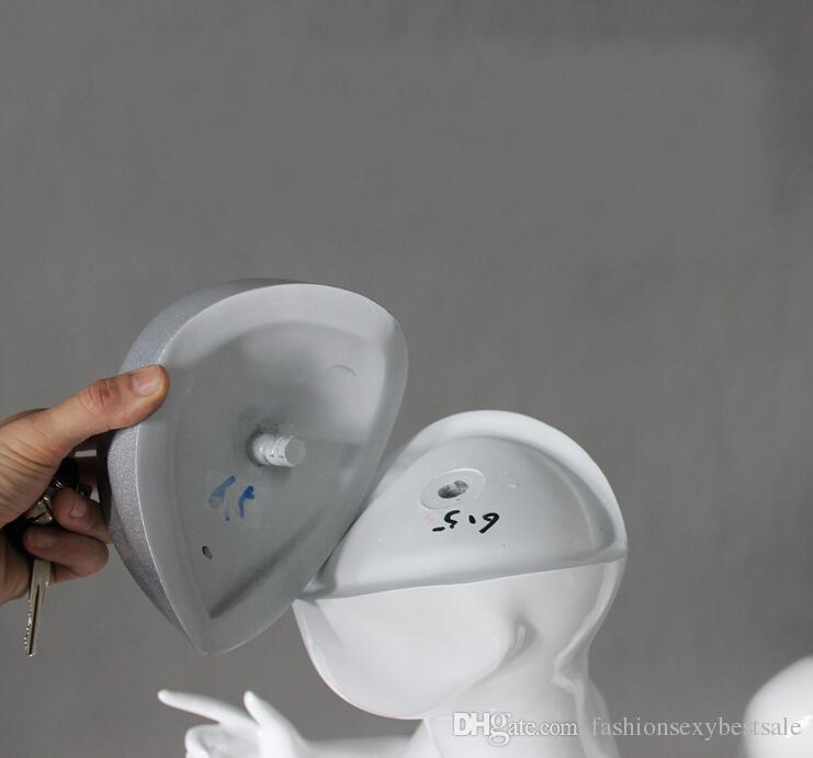 Modo all'ingrosso 1 pz Abstract Altman bambini corpo bianco brillante testa del bambino abbigliamento modello display flessibile cosmetologia manichino B618