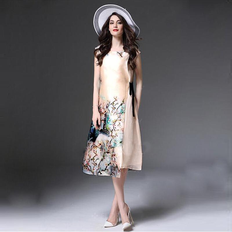 2017 Plus Size 3xl Summer Chinese Style Casual Shift Dress Women
