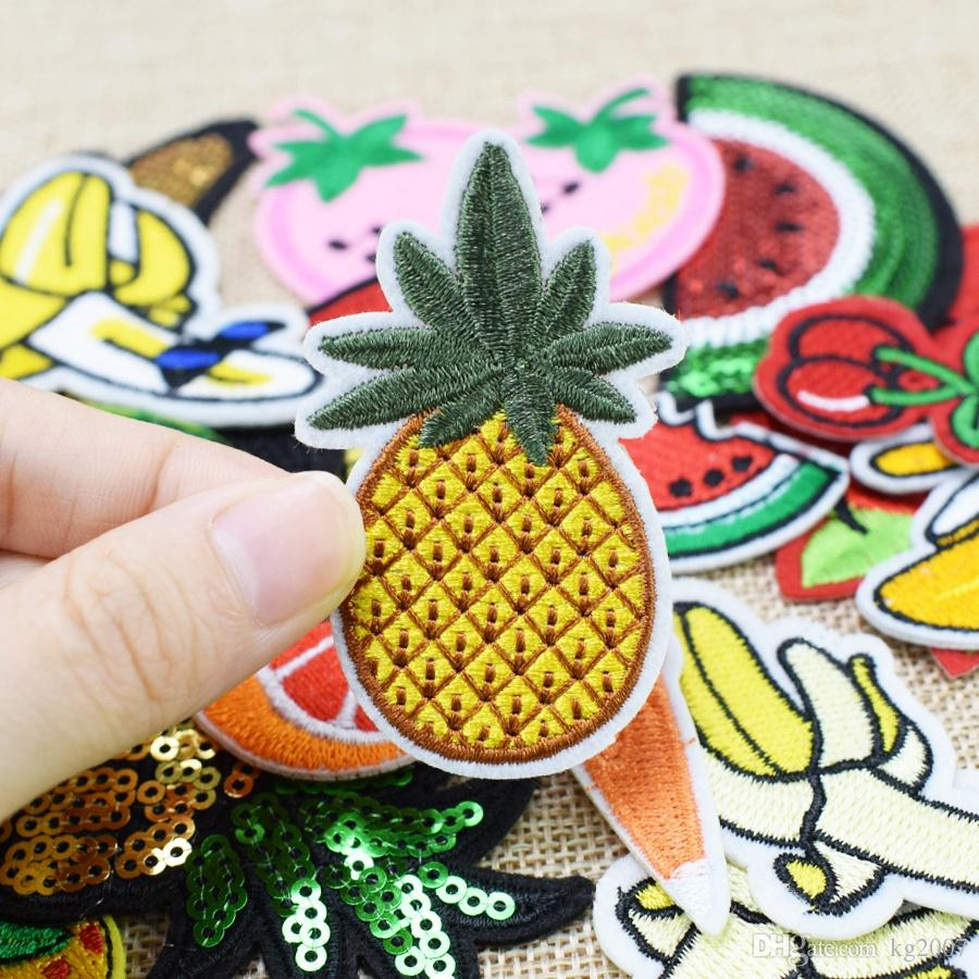 Random Diy fruit patches for clothing iron embroidered patch applique iron on patches sewing accessories badge for clothes bag