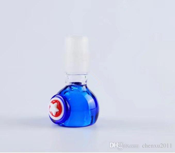 Blue filter 14mm , Wholesale Glass bongs Oil Burner Glass Pipes Waters Pipe Oil Rigs Smoking