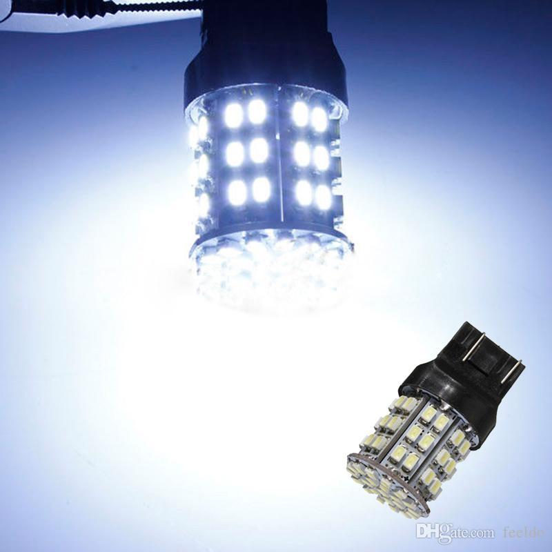 FEELDO 백색 12V T20 7443 64SMD 1206LED 차 자동 회전 / 제동 신호 꼬리 LED 전구 # 1590