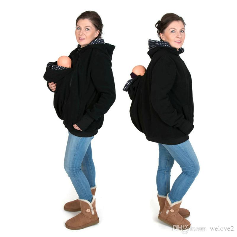 22686627ac1 2019 Fashion Women Winter Clothing Baby Carrier Jacket Kangaroo Warm  Maternity Outerwear Coat Pregnant Zipper Coat For Women Plus Size S~XXL  From Welove2, ...