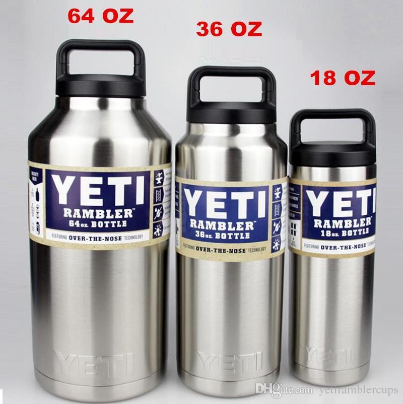 Yeti Rambler Stainless Steel 12 Oz 20 Oz 30oz 36 Oz 64 Oz