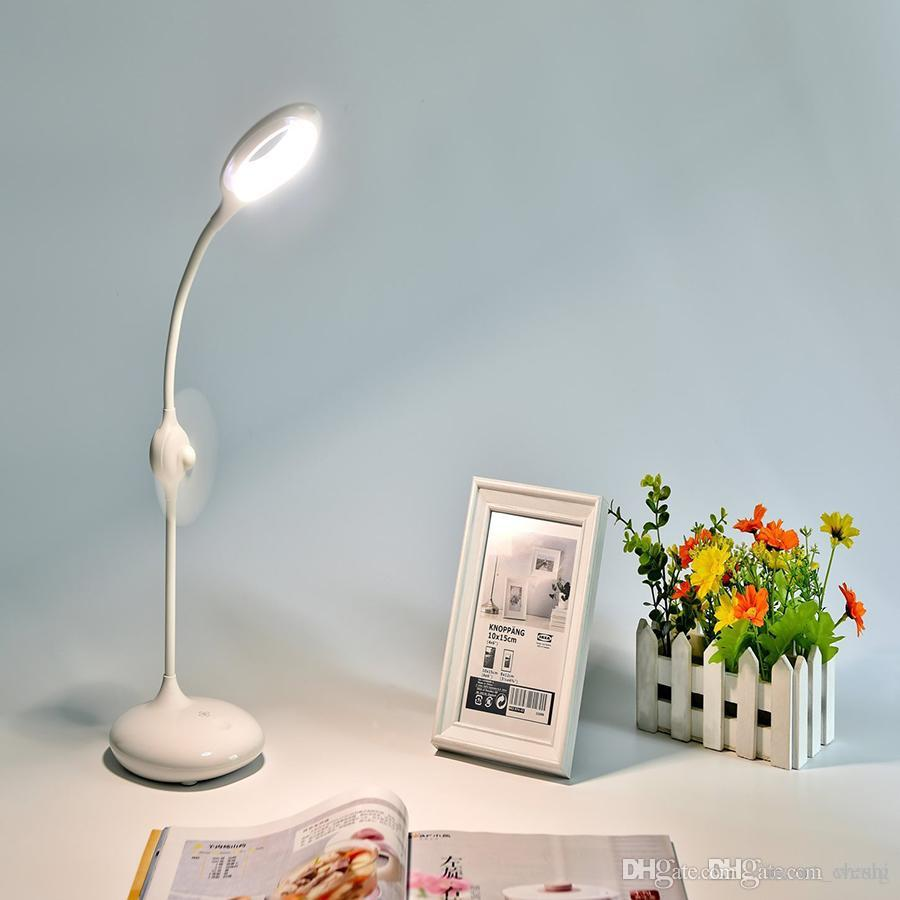 Wholesale rechargeable led desk lamp reading light with fan wholesale rechargeable led desk lamp reading light with fan adjustable brightness eye care touch control book light white by vincentchang under 1569 aloadofball Gallery