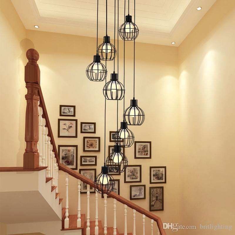 21 Staircase Lighting Design Ideas Pictures: Stairs Pendant LightsVintage Industrial Wind American