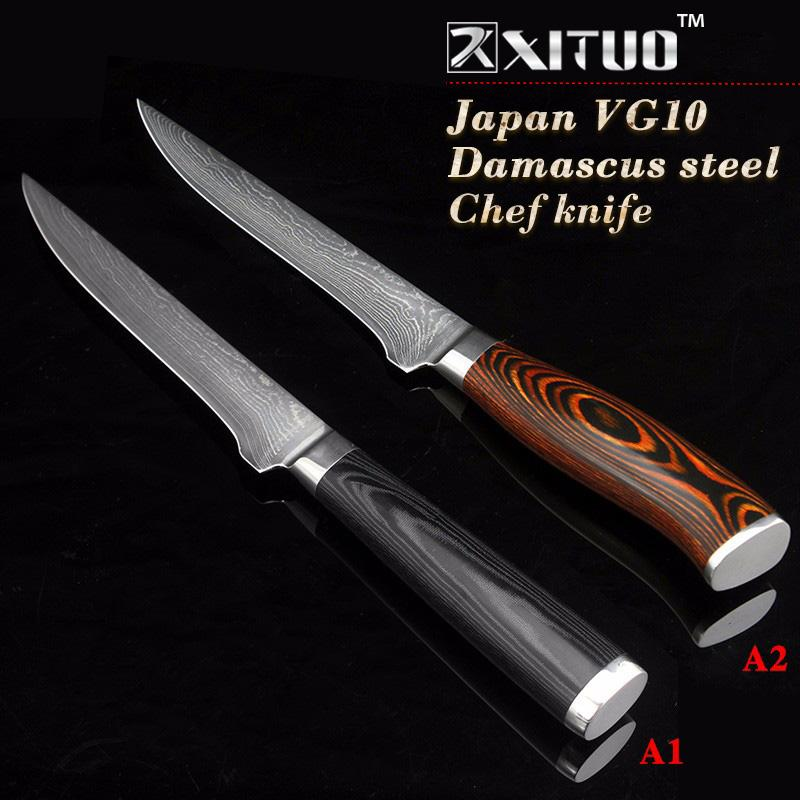 Xituo 5.5 Inch Damascus Boning Knives Utility Japanese Vg10 Damascus Steel  Chef Knife Micarta Handle Professional Kitchen Knife Kitchen Knives Set  Sale ...