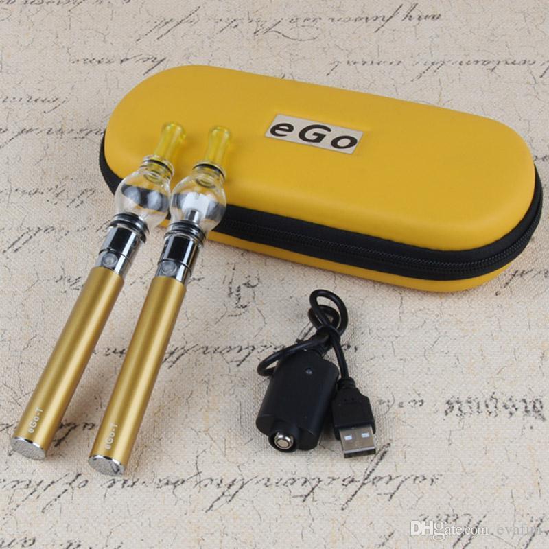 E Cig eGo Wax Oil Glass Globe Pens Dome E Cigarette Vaporizer Pen Kit with Ego T Battery 650mah 900mah 1100mah