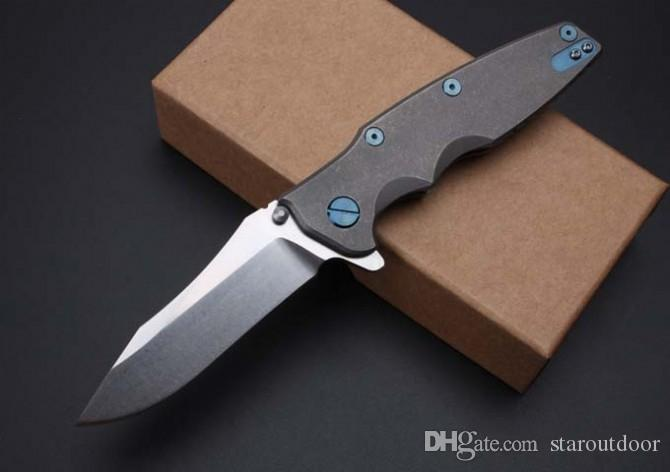 Zero Tolerance 0392 ZT0392 Tactical Folding Knife TC4 Handle 60HRC Stonewashed Camping Hunting Survival Pocket Utility EDC Tools Collection