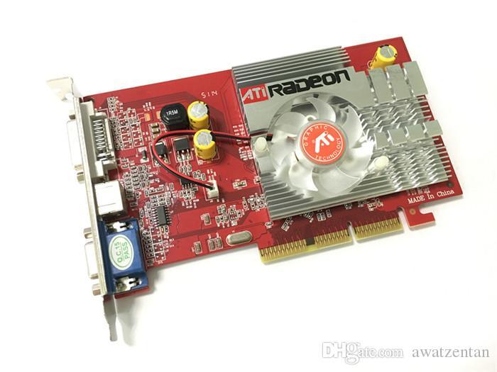 Di trasporto 100% NUOVO ATI Radeon 9550 256MB DDR2 128bit S-Video VGA DVI AGP 4x 8x grafica della scheda video di trasporto