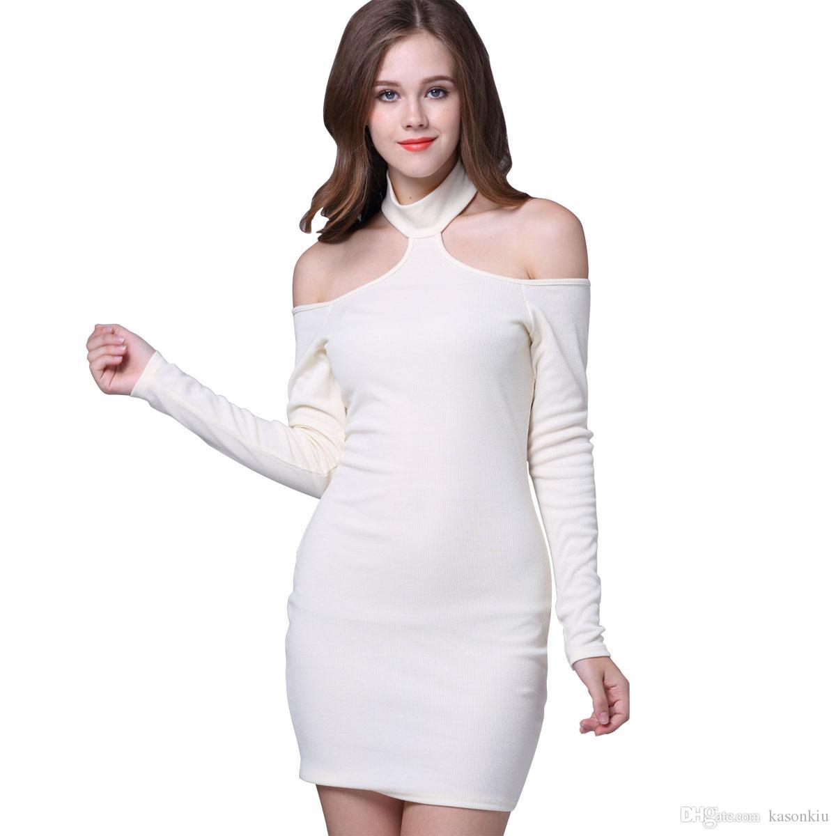 Großhandel Sexy Minikleid 2017 Frühling Sommer Frauen Off Schulter ...