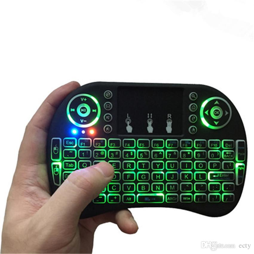 Backlight Lithium mini keyboard Rii Mini i8 Wireless bluetooth Keyboards game Fly Air Mouse Multi-Media Remote Control Touchpad for tv box