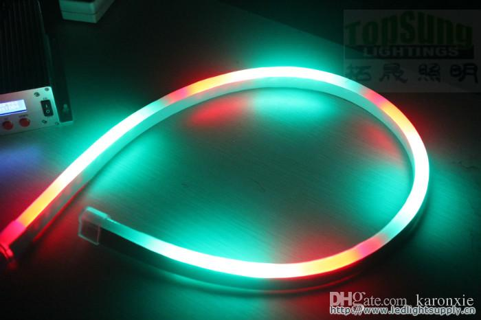 Acquista m v incredibile rgb chasing led neon corda tubo di