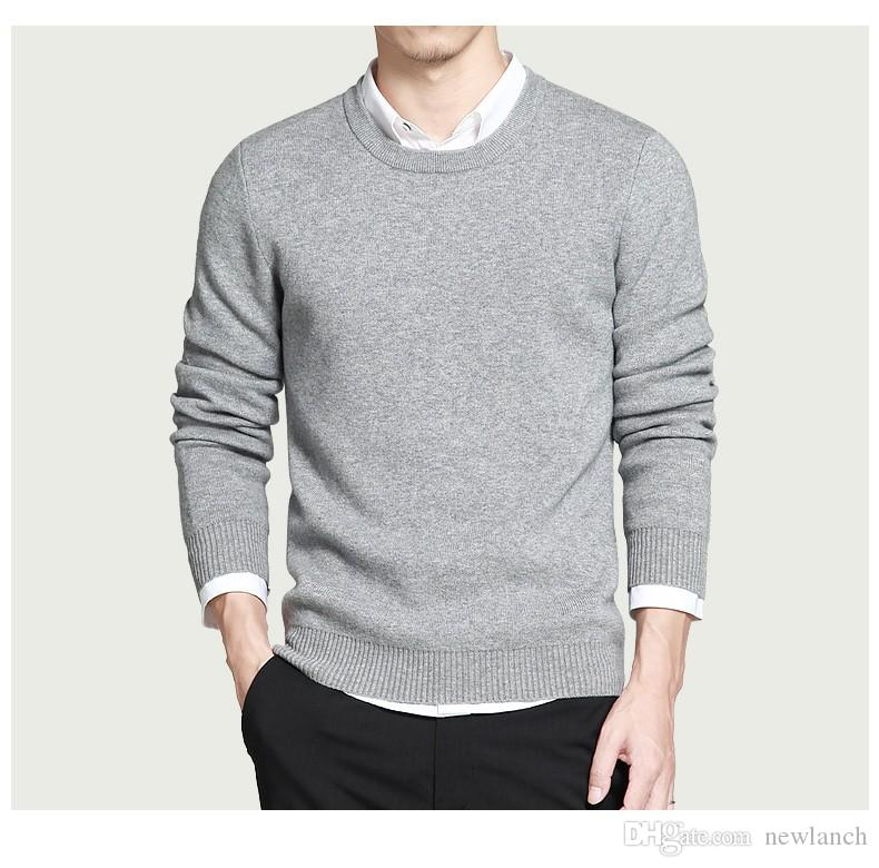 2018 New Pure Cotton Sweaters Men Best Style O Neck Mens Sweaters ...