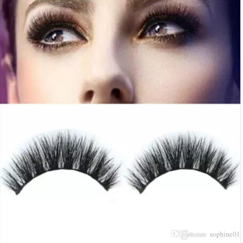 c0e8ad6004d 100% Real Mink Natural Thick False Fake Eyelashes Eye Lashes Makeup ...