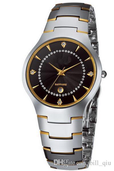 Lady montre-bracelet imperméable à l'eau de diamant montres la table en acier de tungstène hommes montre les amateurs de mode regardent les hommes