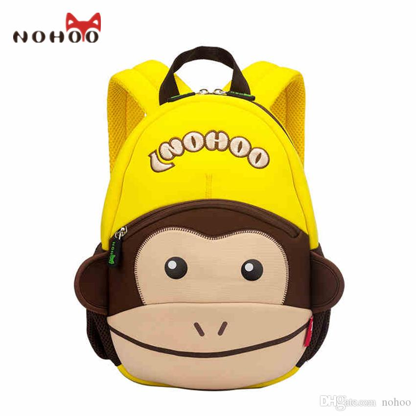 9bf9d3d6f530 School Bags For Girls Boys NOHOO Monekey Fashion Small Backpack For  Children Waterproof Monkey Printing Baby Backpack Backpack Back To School  Backpacks For ...