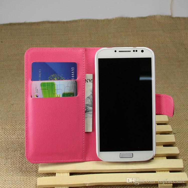 Neue Ankunft Luxus Leder Brieftasche Telefon Flip Cover Tasche für Samsung I9500 Galaxy S4