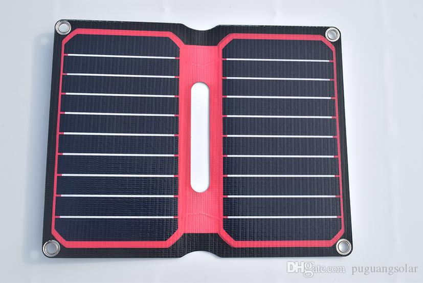 Solarparts portable foldable solar charger 5V/10W Red ETFE flexible lamianted all-in-one high efficiency 12V solar panel cell outdoor tools