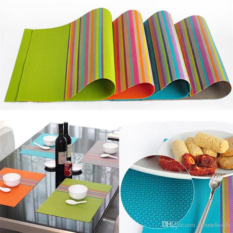 Best Pvc Placemat Dining Table Mats Set De Table Bowl Pad Napkin ...