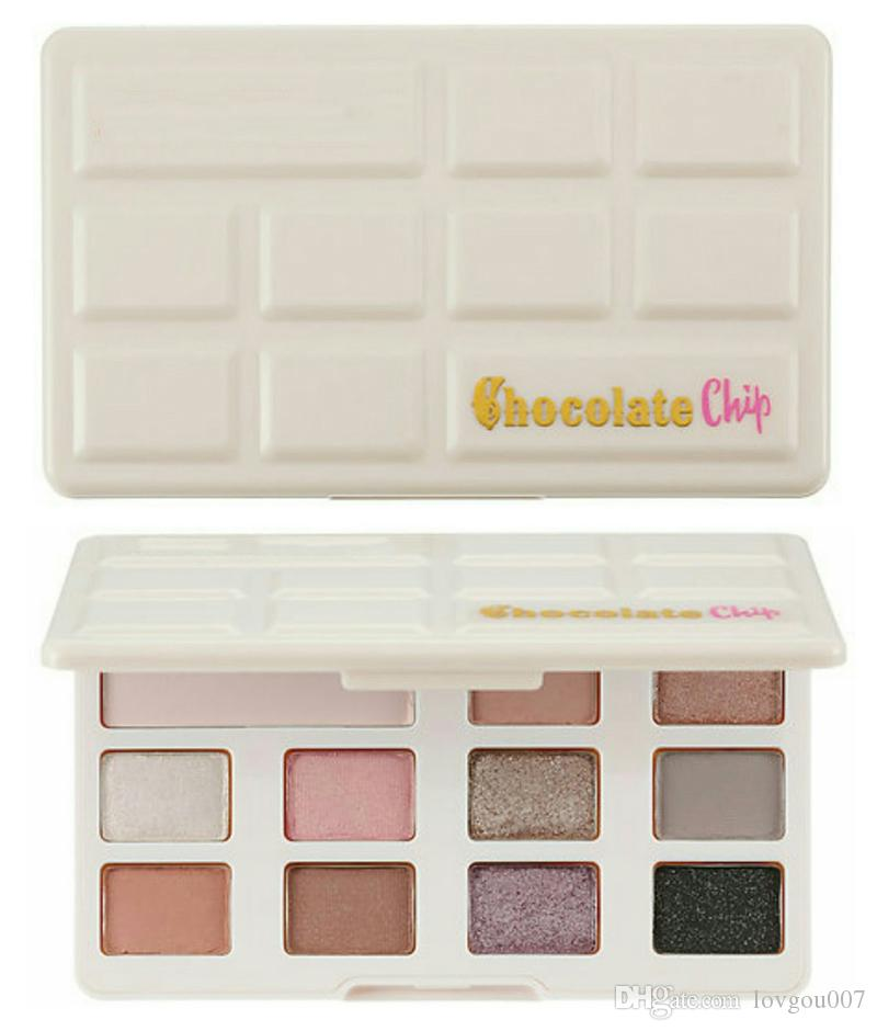 ¡En stock !! Nuevo Chocolate Chip Eye Shadow es Maquillaje profesional sombra de ojos Paleta Blanco y Mate Maquillaje sombra de ojos envío DHL
